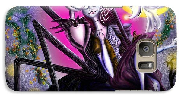Pumpkin Galaxy S7 Case - Sweet Loving Dreams In Halloween Night by Alessandro Della Pietra