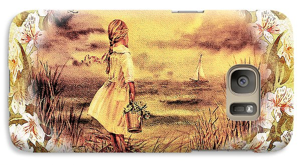 Galaxy Case featuring the painting Sweet Memories A Trip To The Shore by Irina Sztukowski