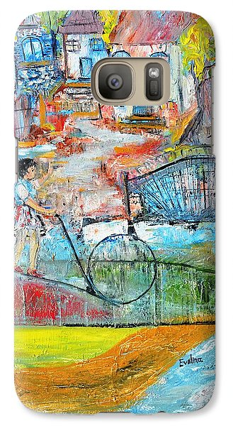 Galaxy Case featuring the painting Sweet Memories by Evelina Popilian