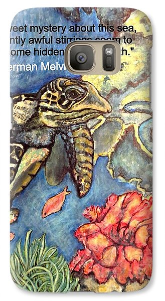 Galaxy Case featuring the mixed media Sweet Mystery Of This Sea A Hawksbill Sea Turtle Coasting In The Coral Reefs 2 by Kimberlee Baxter