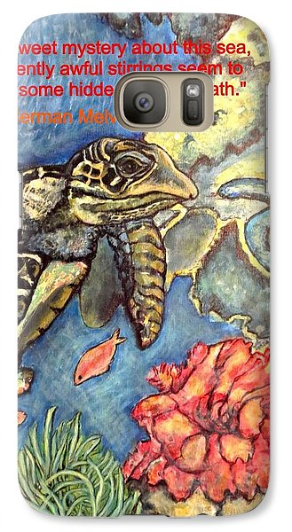 Galaxy Case featuring the painting Sweet Mystery Of This Sea A Hawksbill Sea Turtle Coasting In The Coral Reefs by Kimberlee Baxter