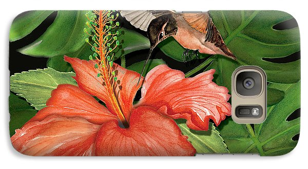 Galaxy Case featuring the painting Sweet Nectar by Anne Beverley-Stamps