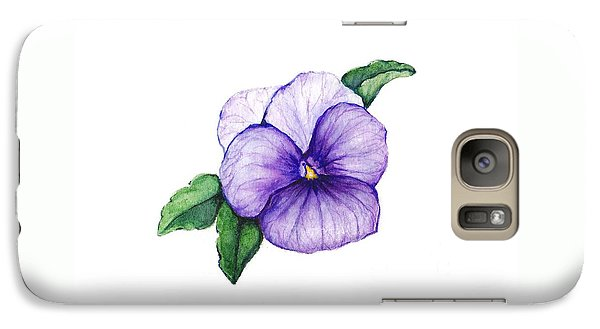 Galaxy Case featuring the painting Sweet Pansy by Heidi Kriel
