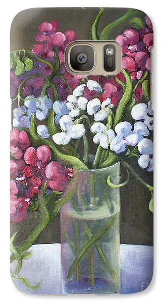 Galaxy Case featuring the painting Sweet Pea by Marta Styk