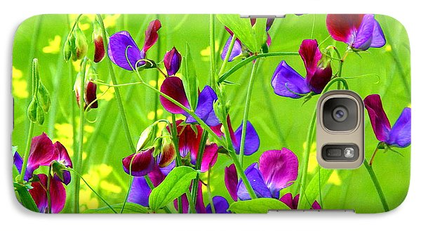 Galaxy Case featuring the photograph Sweet Peas by Byron Varvarigos