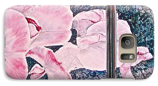 Galaxy Case featuring the painting Sweet Peas by Carolyn Rosenberger