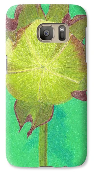 Galaxy Case featuring the drawing Sweet Pitcher Plant by Sheila Byers