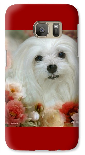 Galaxy Case featuring the mixed media Sweet Snowdrop by Morag Bates