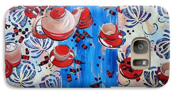 Galaxy Case featuring the painting Sweet -stuff by Anastasija Kraineva