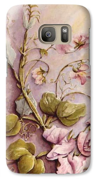 Galaxy Case featuring the painting Sweet Sweet Pea by Marta Styk