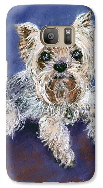 Galaxy Case featuring the pastel Sweet Yorkie by Julie Maas