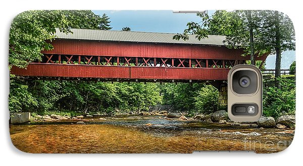 Galaxy Case featuring the photograph Swift River Covered Bridge Hew Hampshire by Debbie Green