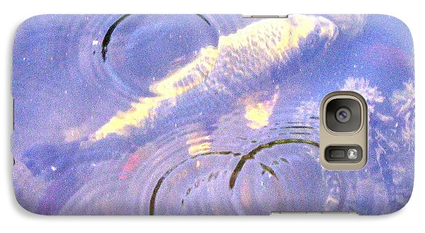 Galaxy Case featuring the photograph Swimming Koi by Wendy Coulson