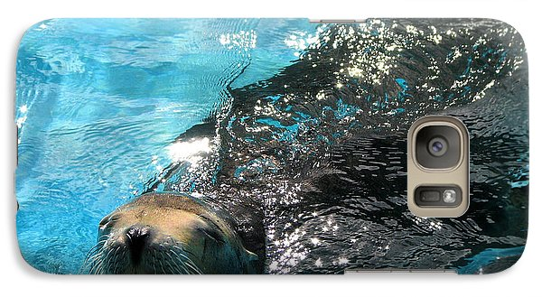 Galaxy Case featuring the photograph Swimming Sea Lion by Kristine Merc
