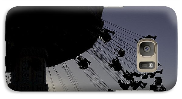 Galaxy Case featuring the photograph Swing Silhouette by Bob Noble Photography
