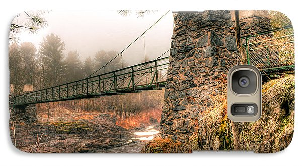 Galaxy Case featuring the photograph Swinging Bridge Before The Storm by Mark David Zahn