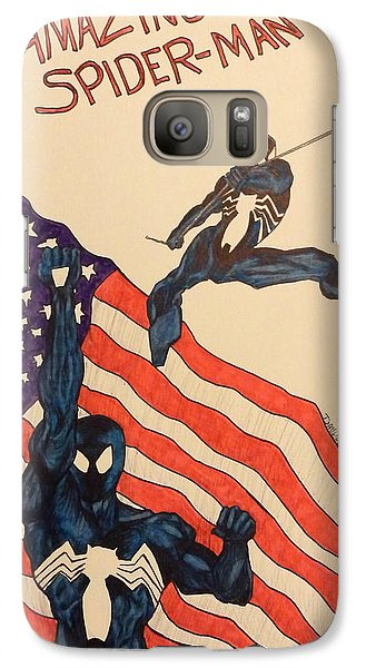 Galaxy Case featuring the drawing Swinging by Dan Wagner
