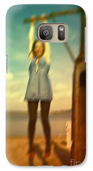 Galaxy Case featuring the photograph Swinging From Lampost  by Craig B