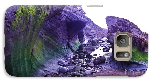 Galaxy Case featuring the photograph Swirl Rocks by John Williams