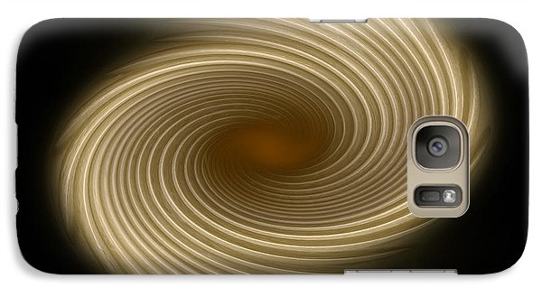Galaxy Case featuring the photograph Swirling Abstract Design by Charles Beeler