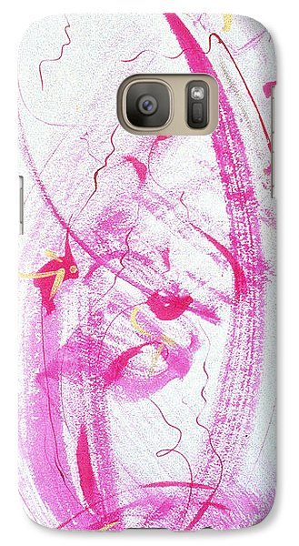 Galaxy Case featuring the painting Swirling In Magenta Pink by Asha Carolyn Young
