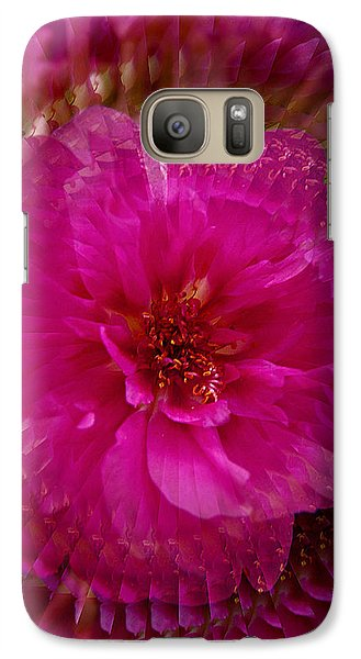 Galaxy Case featuring the photograph Swirls Of Pink by Judy  Johnson