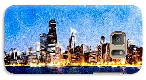 Swirly Chicago At Night Galaxy S7 Case