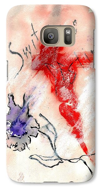 Galaxy Case featuring the painting Switching Destiny by Lesley Fletcher