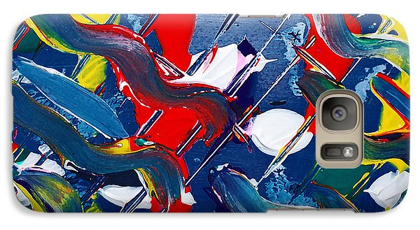 Galaxy Case featuring the painting Swivel by Kjirsten Collier