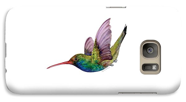 Swooping Broad Billed Hummingbird Galaxy S7 Case by Amy Kirkpatrick
