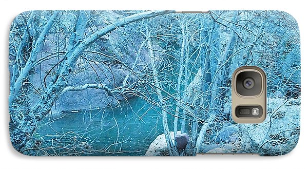 Galaxy Case featuring the photograph Sycamores And River by Kerri Mortenson