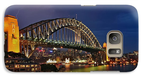 Sydney Harbour Bridge By Night Galaxy S7 Case by Kaye Menner