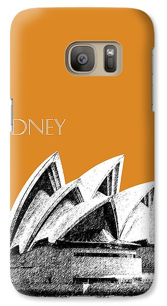 Sydney Skyline 3  Opera House - Dark Orange Galaxy S7 Case