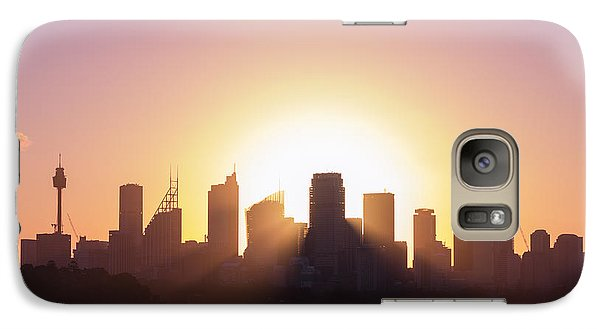 Galaxy Case featuring the photograph Sydney's Evening by Jola Martysz