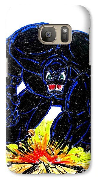 Galaxy Case featuring the drawing Symbiote Guy by Justin Moore