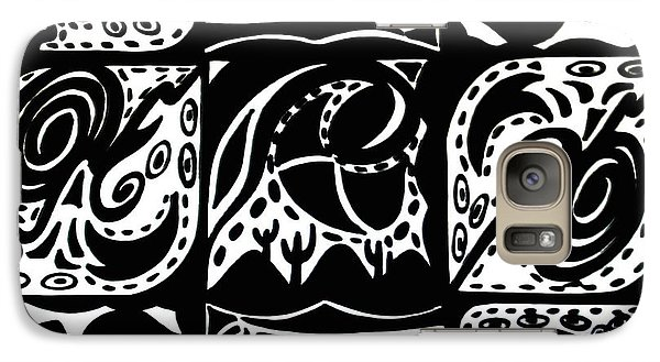 Galaxy Case featuring the drawing Symmetrical Illusion Abstract by Mukta Gupta