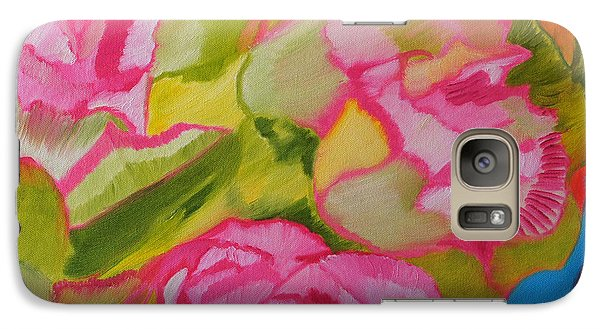 Galaxy Case featuring the painting Symphony Of Roses by Meryl Goudey