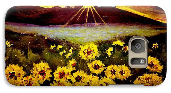 Galaxy Case featuring the painting Symphony Of The Sun.. by Cristina Mihailescu