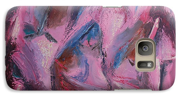 Galaxy Case featuring the painting Syncopation 5 by Mini Arora