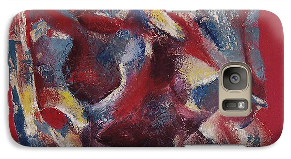 Galaxy Case featuring the painting Syncopation by Mini Arora