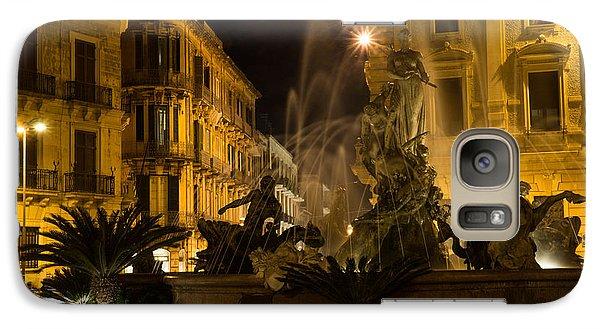 Galaxy Case featuring the photograph Syracuse - Diana Fountain  by Georgia Mizuleva