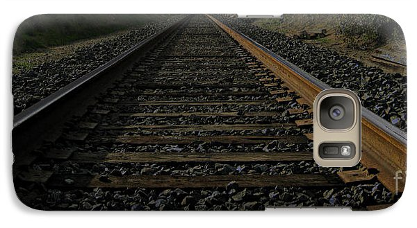 Galaxy Case featuring the photograph T Rails by Janice Westerberg