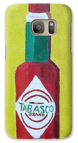 Galaxy Case featuring the painting Tabasco Brand Pepper Sauce by Margaret Harmon