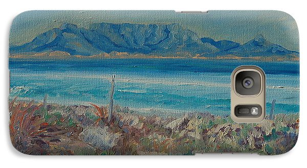 Galaxy Case featuring the painting Table Mountain Cape Town by Thomas Bertram POOLE