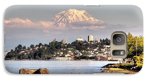 Galaxy Case featuring the photograph Tacoma City Skyline by Rob Green