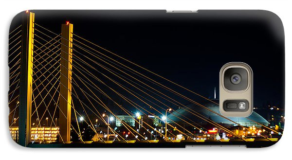Galaxy Case featuring the photograph Tacoma Dome And Bridge by Tikvah's Hope