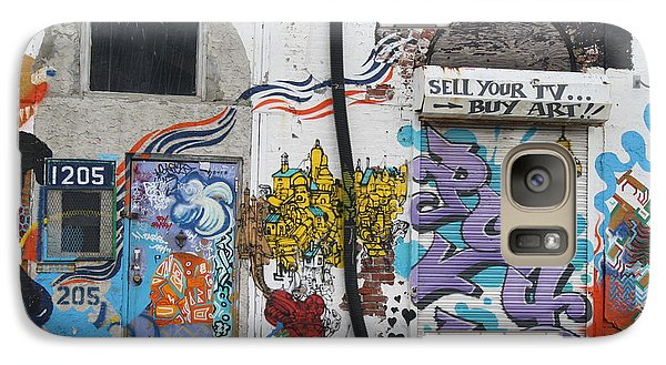 Galaxy Case featuring the photograph Tagging North Philly by Christopher Woods