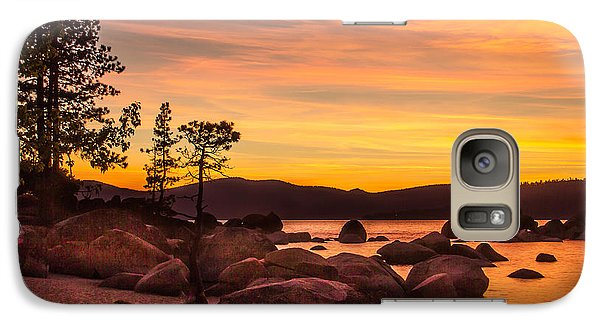 Galaxy Case featuring the photograph Tahoe Golden Sunset by Steven Bateson