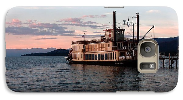 Galaxy Case featuring the photograph Tahoe Queen Riverboat On Lake Tahoe California by Paul Topp