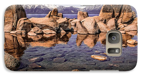 Galaxy Case featuring the photograph Tahoe Reflections by Steven Bateson